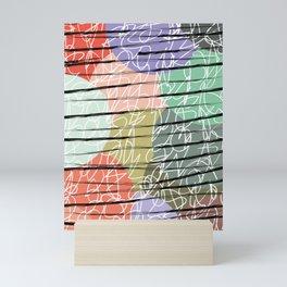Scratched Shades Mini Art Print