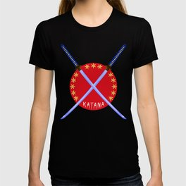 Katana Sword Design T-shirt