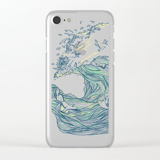 Ocean Breath Clear iPhone Case