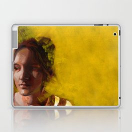 Megan, Fine Art Oil Painting Portrait Print Laptop & iPad Skin