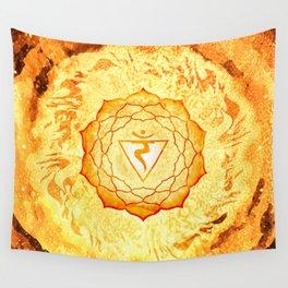 Solar Plexus Chakra Fire Element - 70 Wall Tapestry