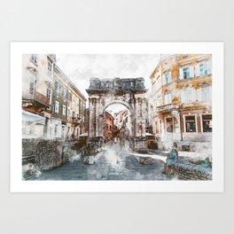 Pula, Croatia Art Print
