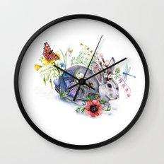 Spring Jackalope Wall Clock