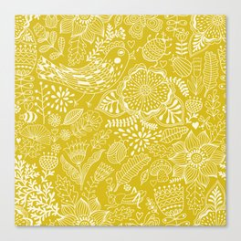 Yellow birds Canvas Print