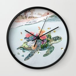Coral Turtle • Save the Planet Wall Clock