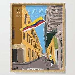 Cartagena de Indias, Colombia Travel Poster Serving Tray