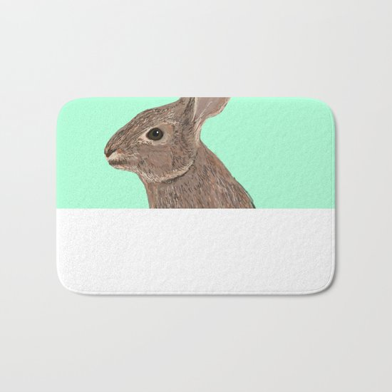 Roger - Bunny, Rabbit, Pet, Cute, Easter, Pet Rabbit, Pet Friendly, Bunny Cell Phone Case Bath Mat