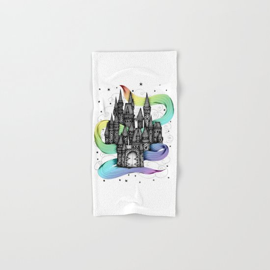 Super Magic Rainbow Dream Castle Hand & Bath Towel