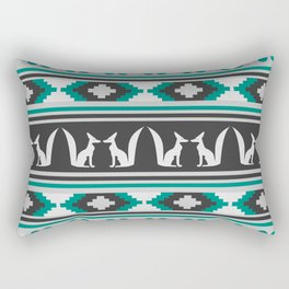 Ethnic pattern with foxes Rectangular Pillow