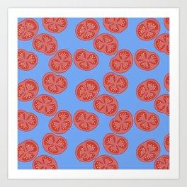 Tomato slices - food illustration Art Print