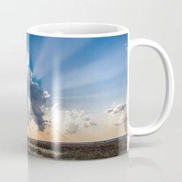 Explosion - Sunbeams Burst From Behind Storm Cloud in Kansas Coffee Mug