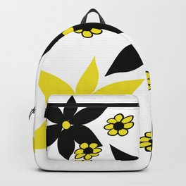 Yellow and Black Flower Backpack