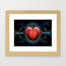 Mechanical Heart Framed Art Print