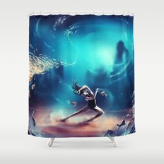 Dancing Zodiac Pisces Shower Curtain