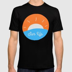 Sun Up LARGE Mens Fitted Tee Black
