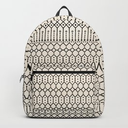 N79 - Farmhouse B&W Traditional Boho Moroccan Style Design. Backpack