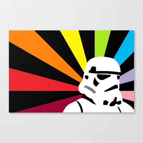 After the Storm... Rainbow Trooper Canvas Print