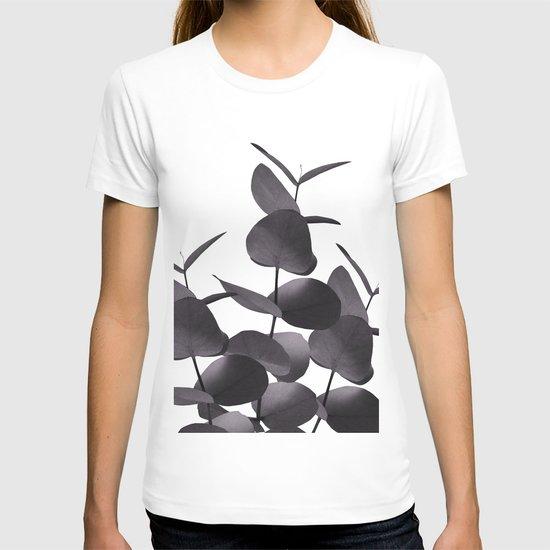 Eucalyptus Leaves Black White #1 #foliage #decor #art #society6 by anitabellajantz