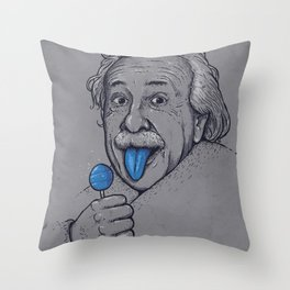 Blue Tongue Throw Pillow