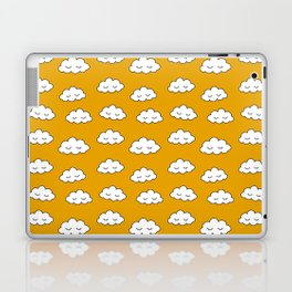 Dreaming clouds in honey mustard background Laptop & iPad Skin