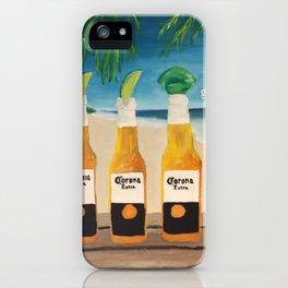 Greedy - Corona Ad Painting iPhone Case