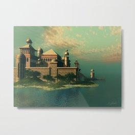 Mystic Fantasy Island Metal Print