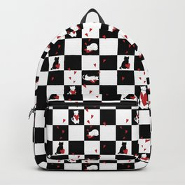Cat Love Checkers Backpack