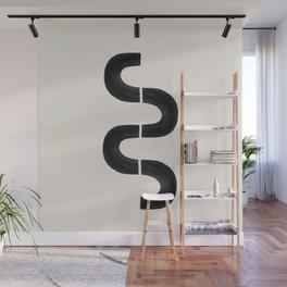 Black Swirl Wall Mural