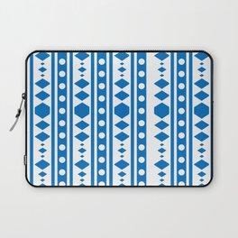 Blue Tribal Pattern Laptop Sleeve