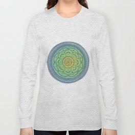 mandala azul Long Sleeve T-shirt