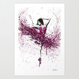 Royal Rubellite Ballerina Art Print