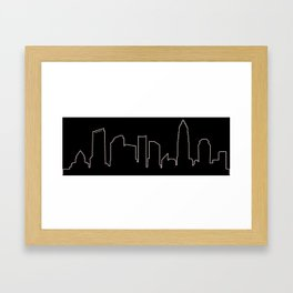 Charlotte, NC Skyline Framed Art Print