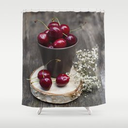 Cherries Shower Curtain