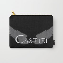Castiel with Wings White Carry-All Pouch