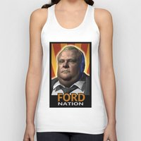ford Tank Tops featuring Ford Nation by RadiationLeak