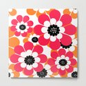 The floral pattern . red and yellow on a white background . by decoli