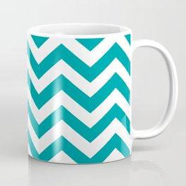Teal Chevron Pattern Coffee Mug