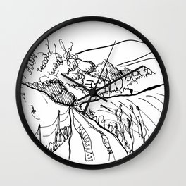Little Village with Church Wall Clock