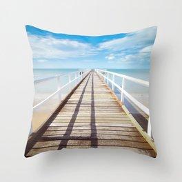 Beach Dock Throw Pillow