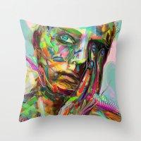 archan nair Throw Pillows featuring Drift by Archan Nair