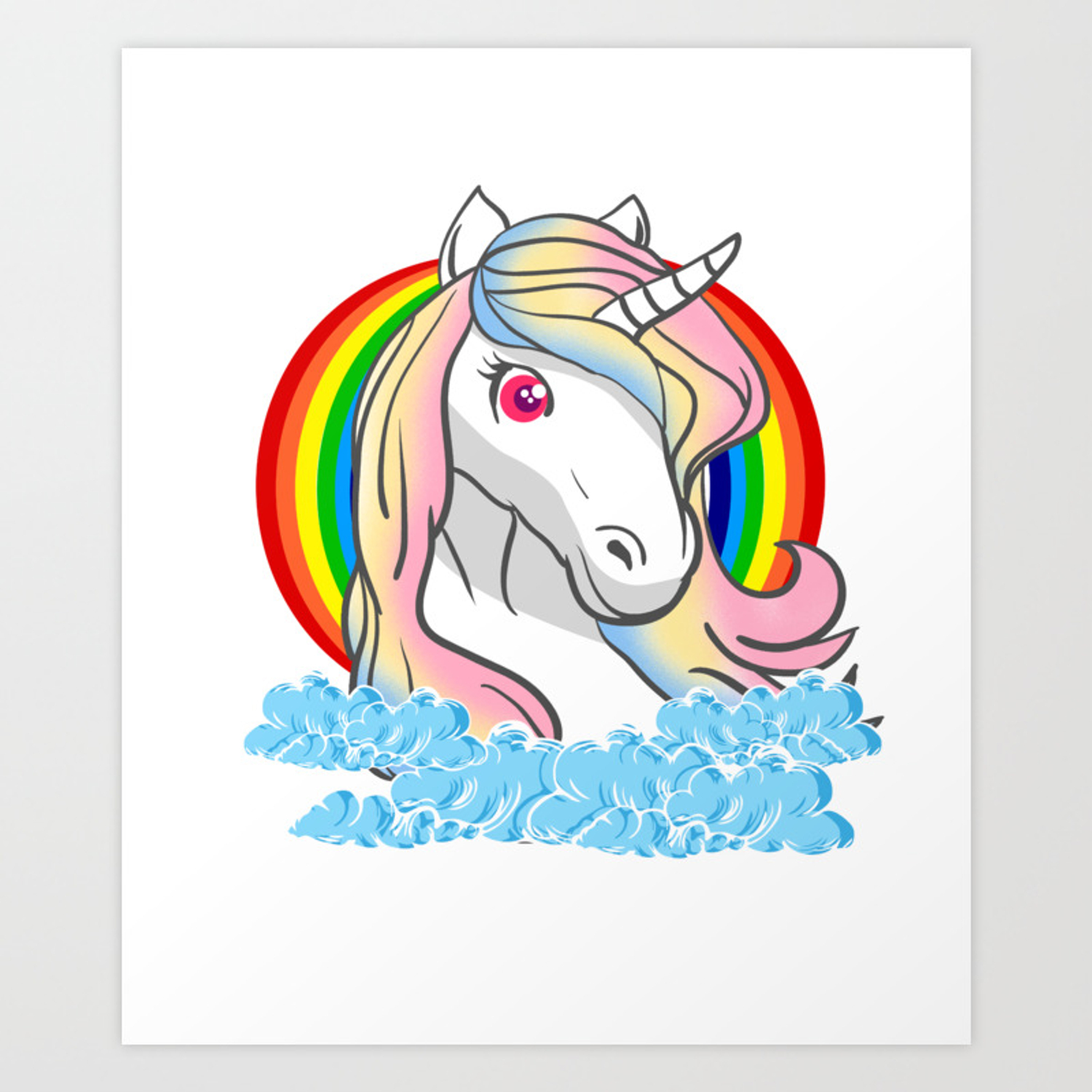 Unicorn Awesome Creatures Magic Fantasy Rainbow Fairytale Myth Horse Lovers Gift Art Print By Tomgiant Society6