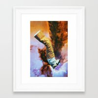 cigarette Framed Art Prints featuring Cigarette by John Turck