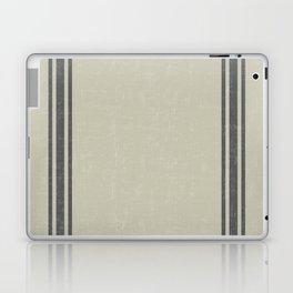 Grey on Linen King sham Laptop & iPad Skin