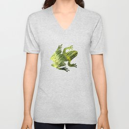 Green Water Abstract Art Unisex V-Neck