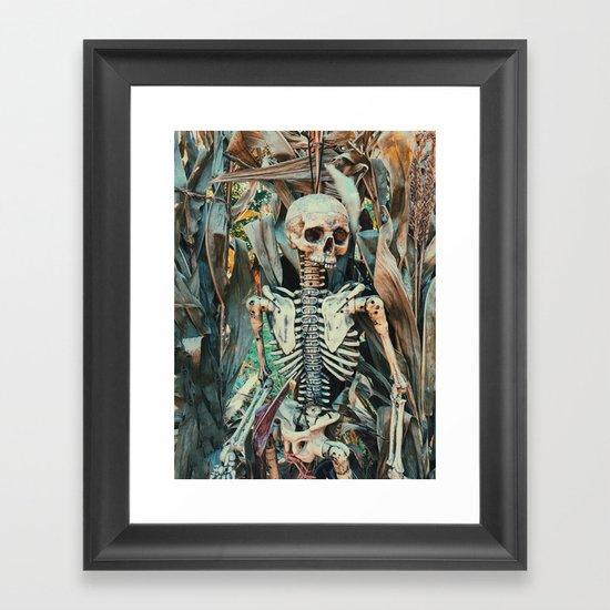 spooky scary Framed Art Print
