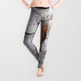 Tree Bark rustic decor Leggings