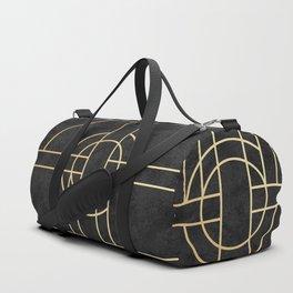 Art Deco Black Marble Duffle Bag