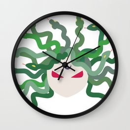 The Gorgon - Medusa Minimalist Wall Clock