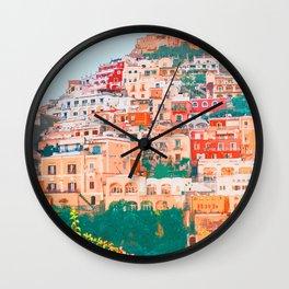 Positano, beauty of Italy Wall Clock