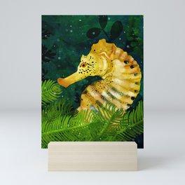 Yellow Seahorse Mini Art Print